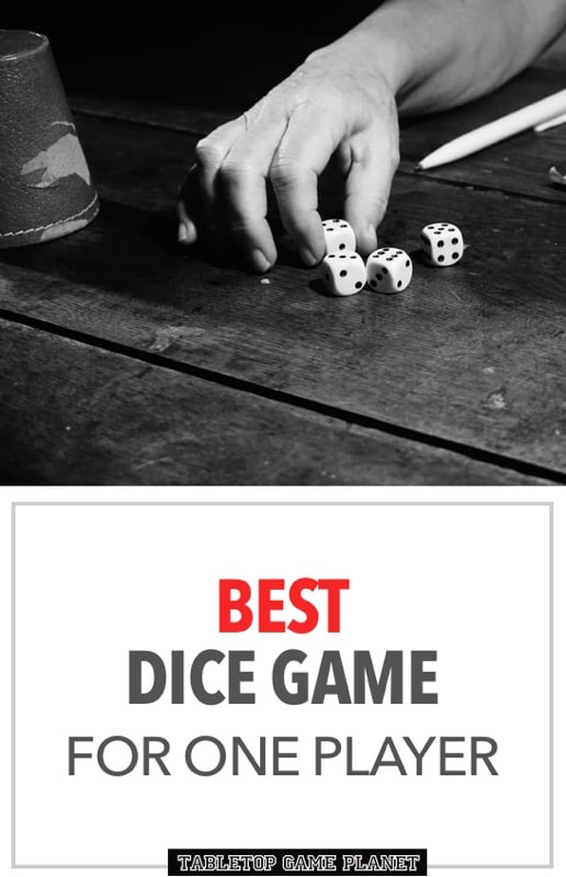 Dice games for one players