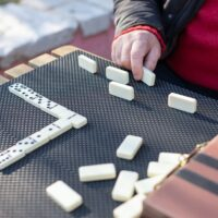 Dominoes with dice