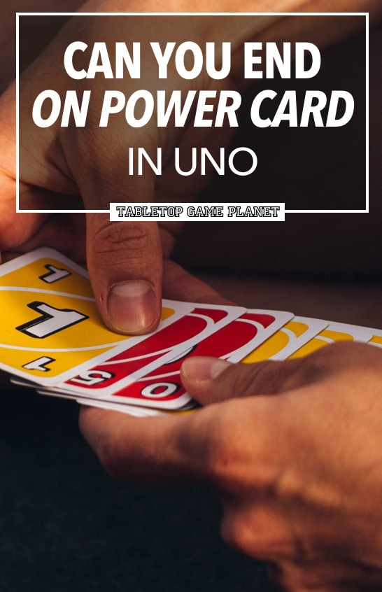 Can you end game on power cards in UNO