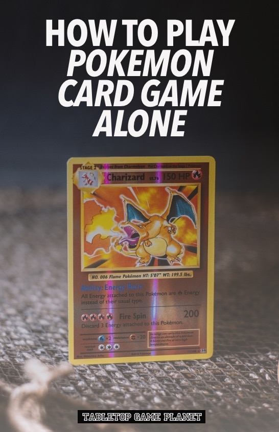 How to play Pokemon card game alone