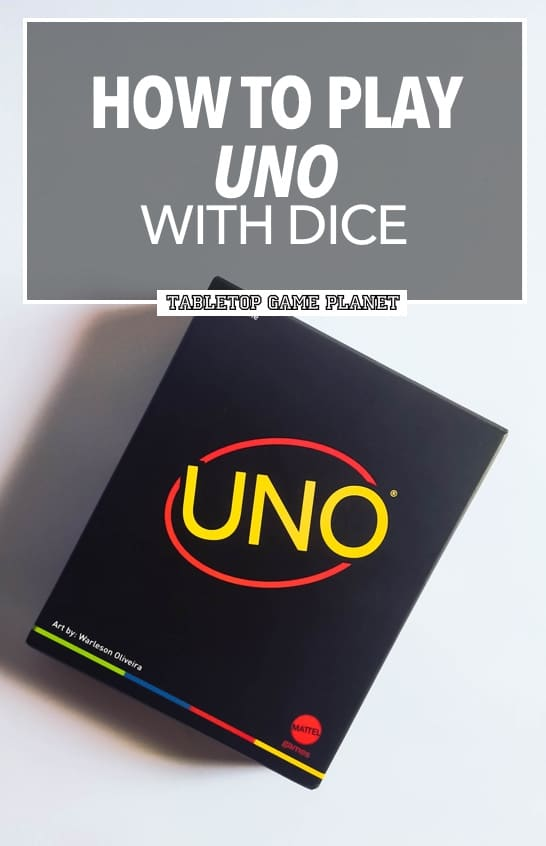 How to play UNO with dice