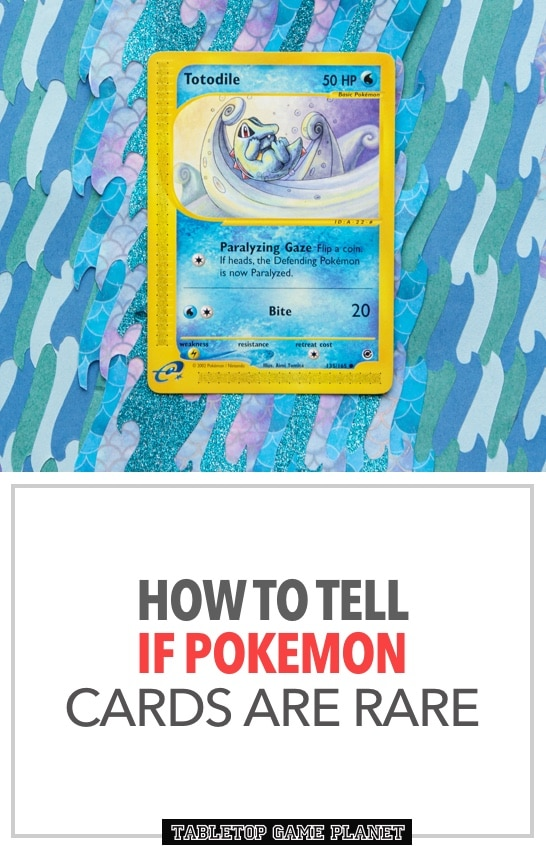 How to tell if Pokemon cards are rare