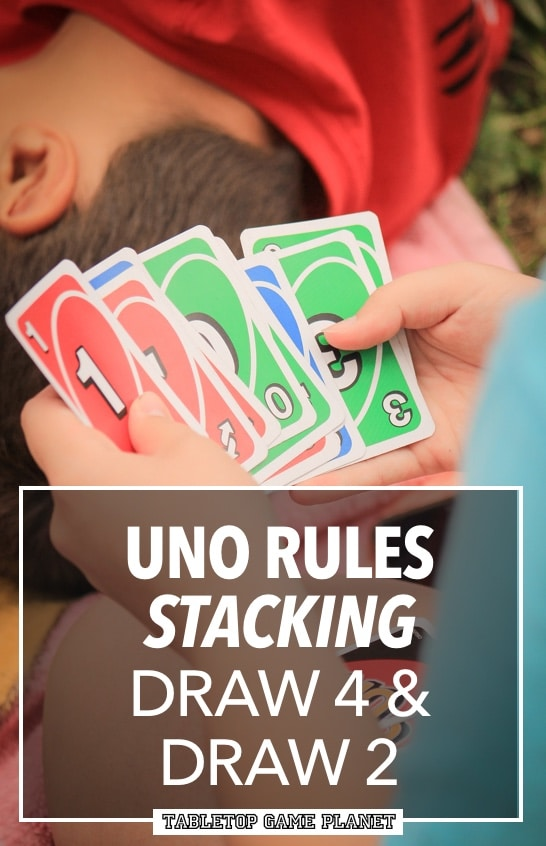 Draw 4 and Draw 2 stacking rules in UNO